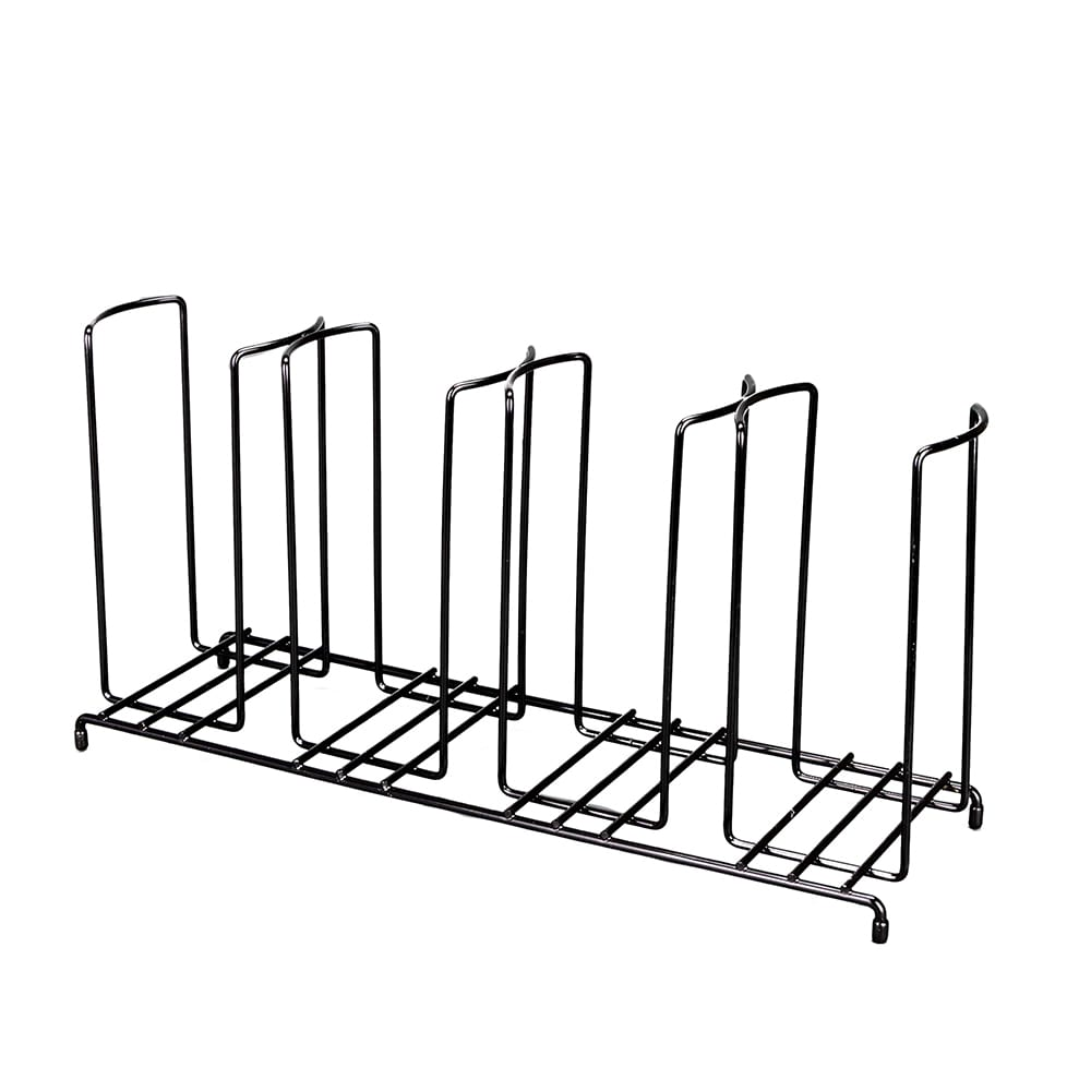 Dispense-rite WR-4 Lid/Cup Organizer, Wire Rack, 4 Section: (4)4-1/8 in, Black