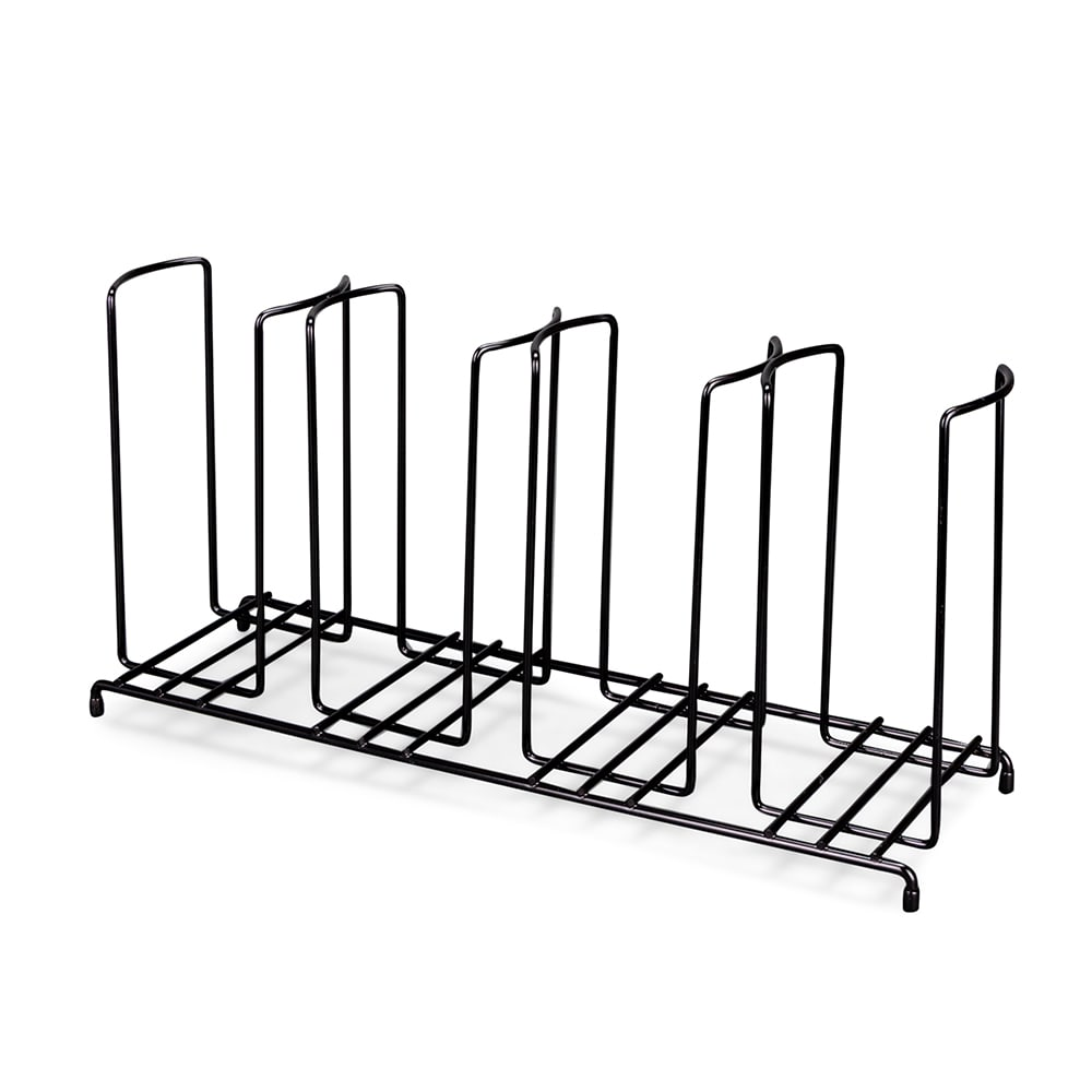Dispense-rite WR5 Lid/Cup Organizer, Wire Rack, 5 Section: (1)3-1/2 in, (2)4-1/4 in, (2) 4-3/4 in
