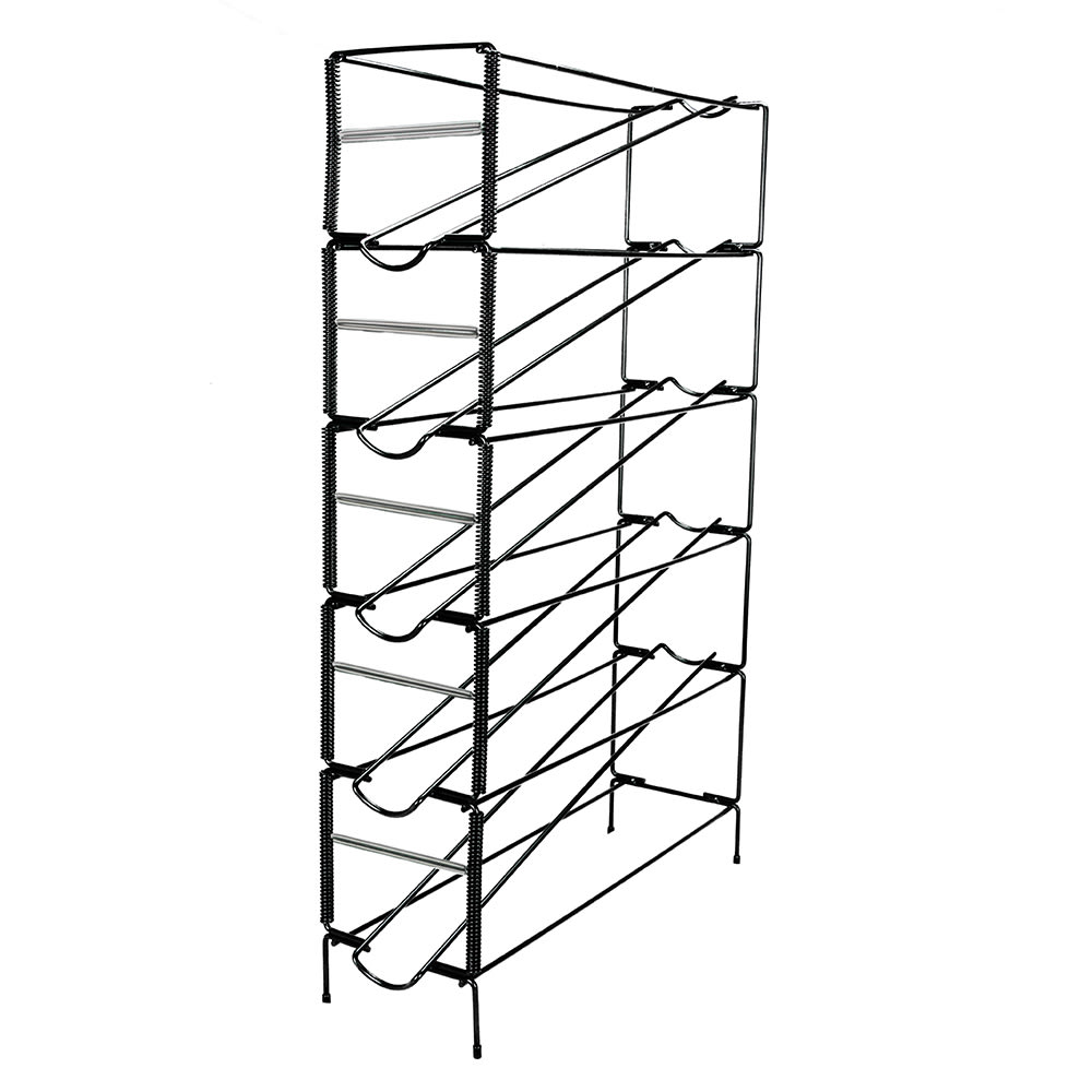 Dispense-rite WRCT5 Cup Dispenser, Wire Rack, 5 Section, 6-44 oz Cups, Black