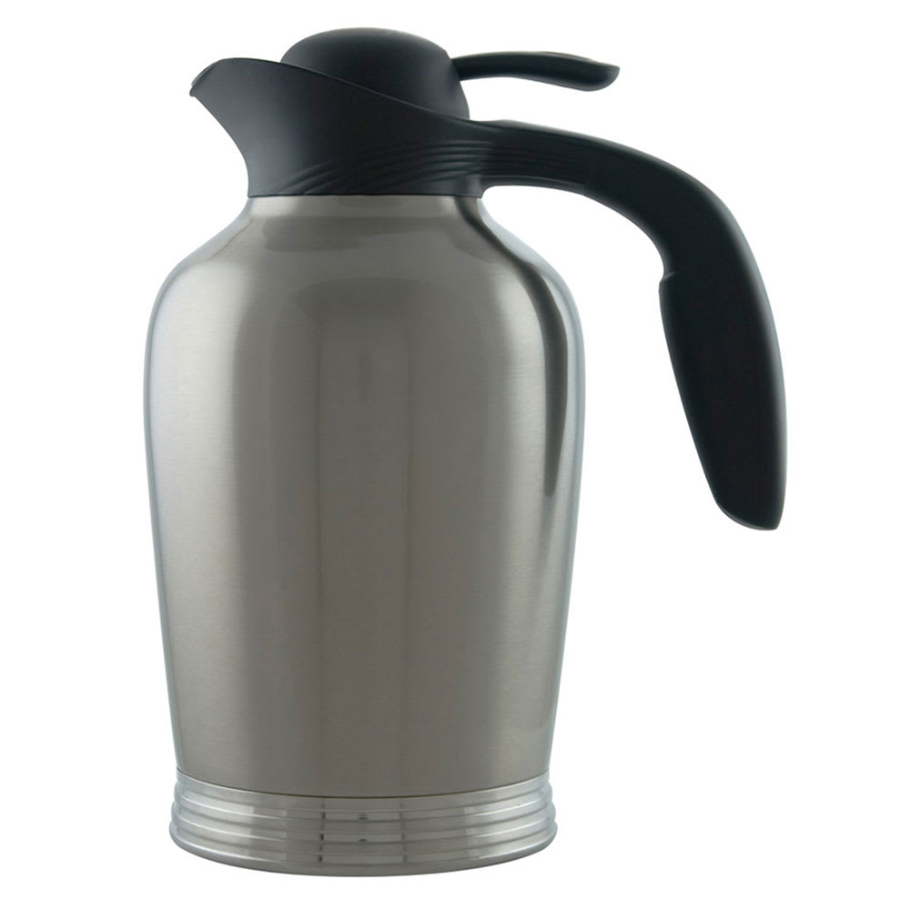 Service Ideas 10-00008-000 50 oz Vacuum Pitcher w/ No Drip Lip, Stainless Insulation