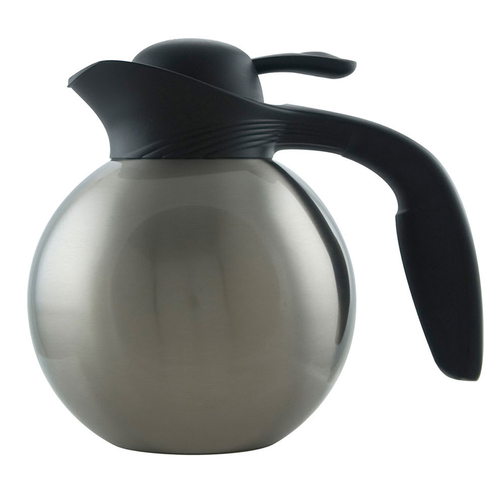 Service Ideas 10-00010-000 1-liter Vacuum Carafe w/ Removable Tea Infuser, No Drip Lip