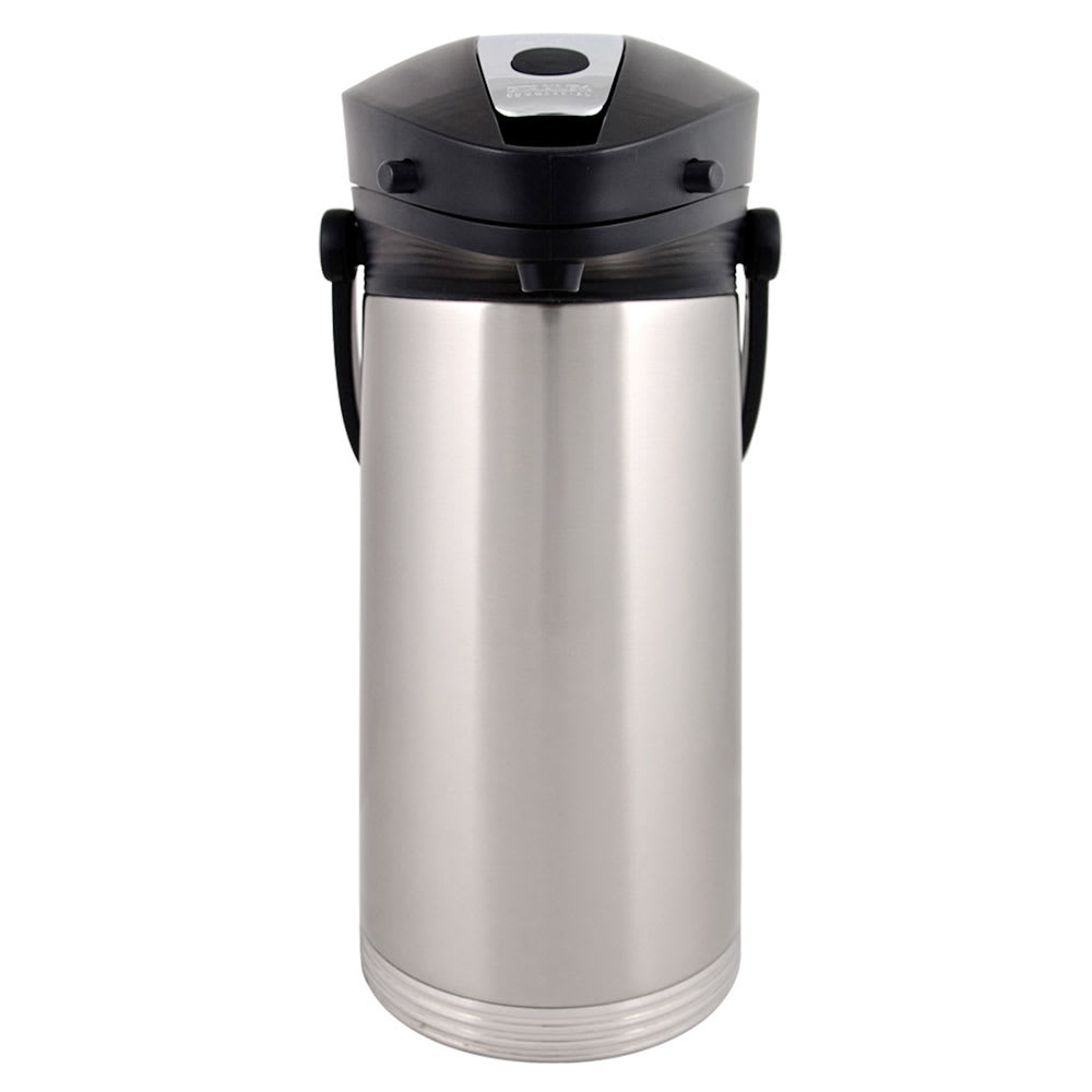 Service Ideas 10-00189-000 3-liter Airpot w/ Vacuum Insulation, Lever Lid, Stainless