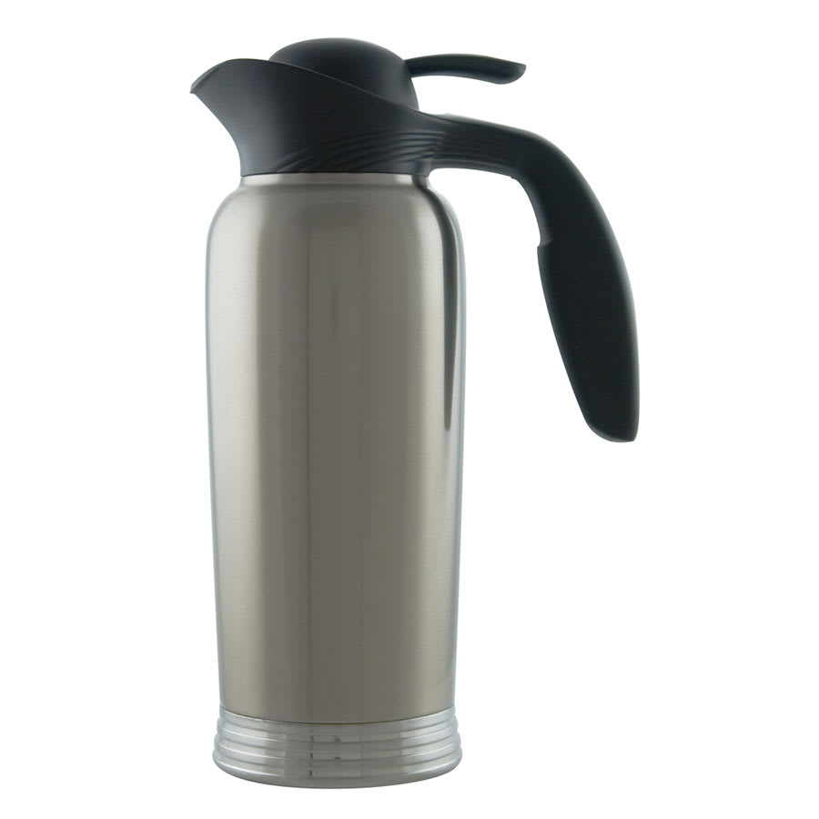 Service Ideas 10-00744-000 1 liter Creamer w/ No Drip Lip, Stainless Vacuum Insulation