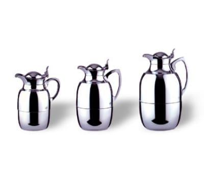 Service Ideas 57210 1-liter Alfi Juwel Coffee Server w/ Brass Shell & Chrome Finish