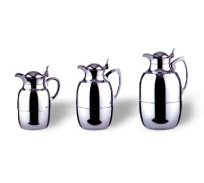 Service Ideas 57715 1.5-liter Insulated Coffee Server w/ Unbreakable Liner, Chrome