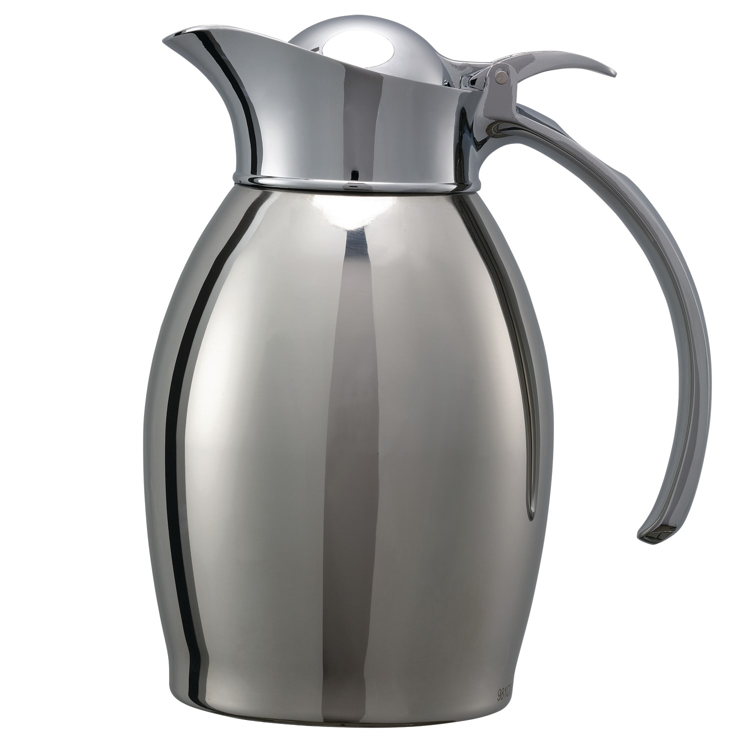 Service Ideas 98106PS 0.6-Liter Carafe w/ Vacuum Insulation, Polished Stainless Finish