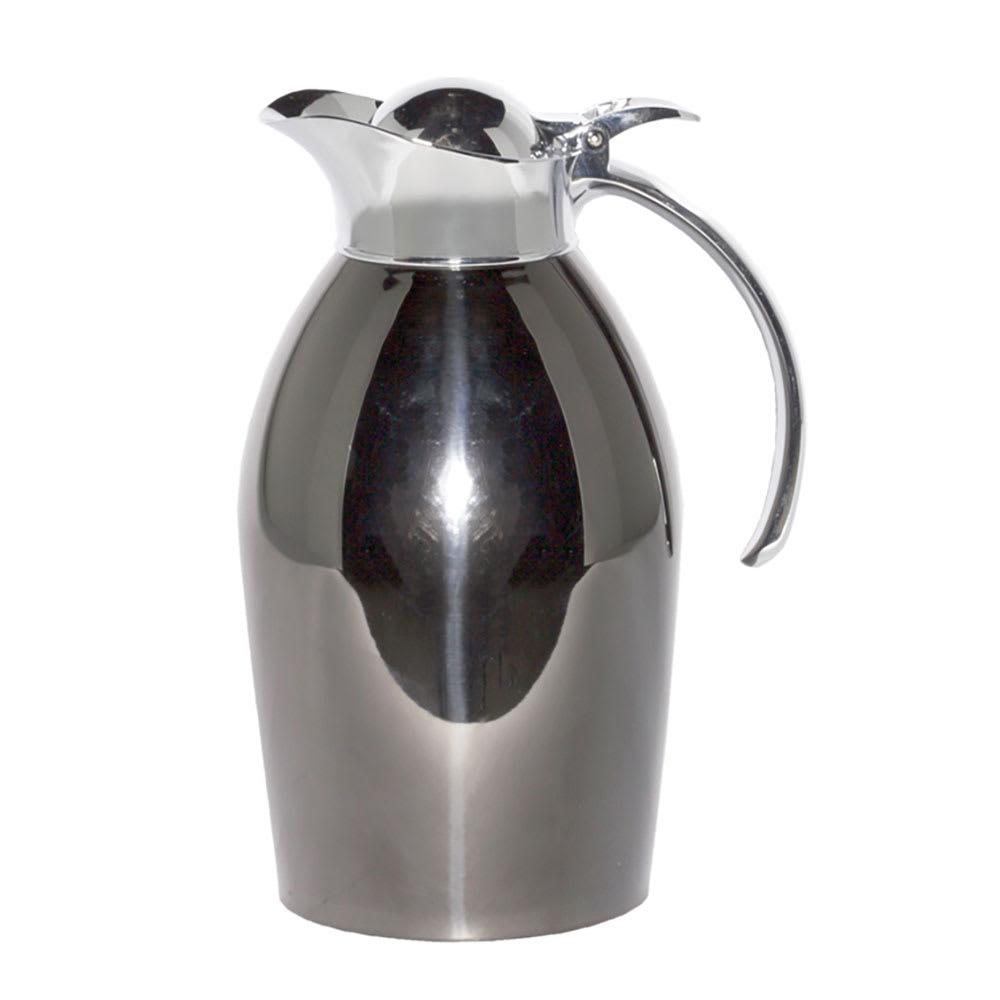 Service Ideas 98110POX 1-Liter Carafe w/ Vacuum Insulation, Polished Black Onyx