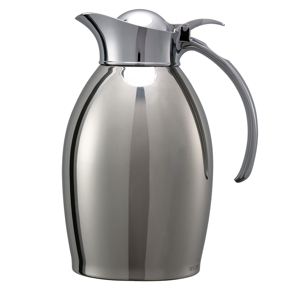 Service Ideas 98110PS 1-Liter Carafe w/ Vacuum Insulation, Polished Stainless Finish