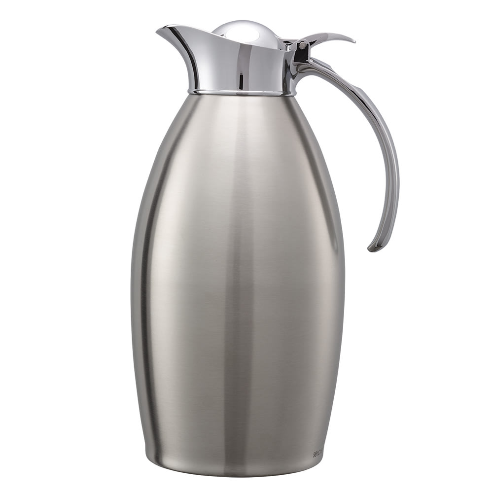 Service Ideas 98115BS 1.5-Liter Carafe w/ Vacuum Insulation, Brushed Stainless Finish