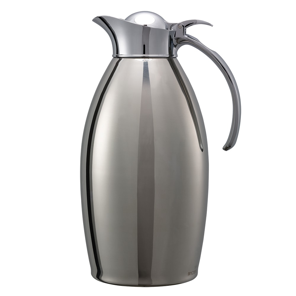 Service Ideas 98115PS 1.5 Liter Carafe w/ Vacuum Insulation, Polished Stainless Finish