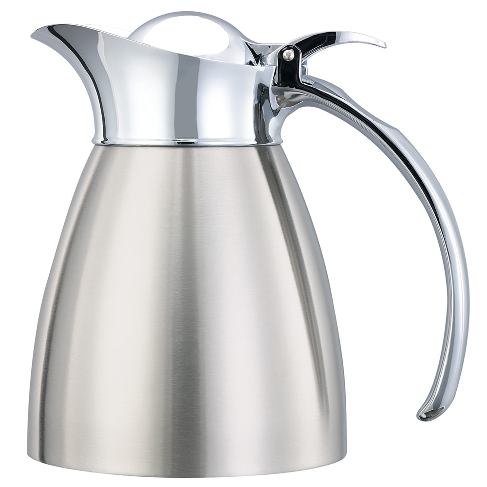Service Ideas 98203BS 10-oz Carafe w/ Vacuum Insulation, Brushed Stainless Finish