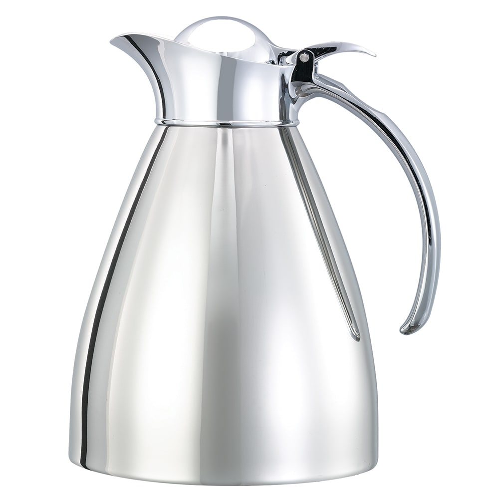 Service Ideas 982C10 1-liter Carafe w/ Vacuum Insulation, Polished Stainless Finish