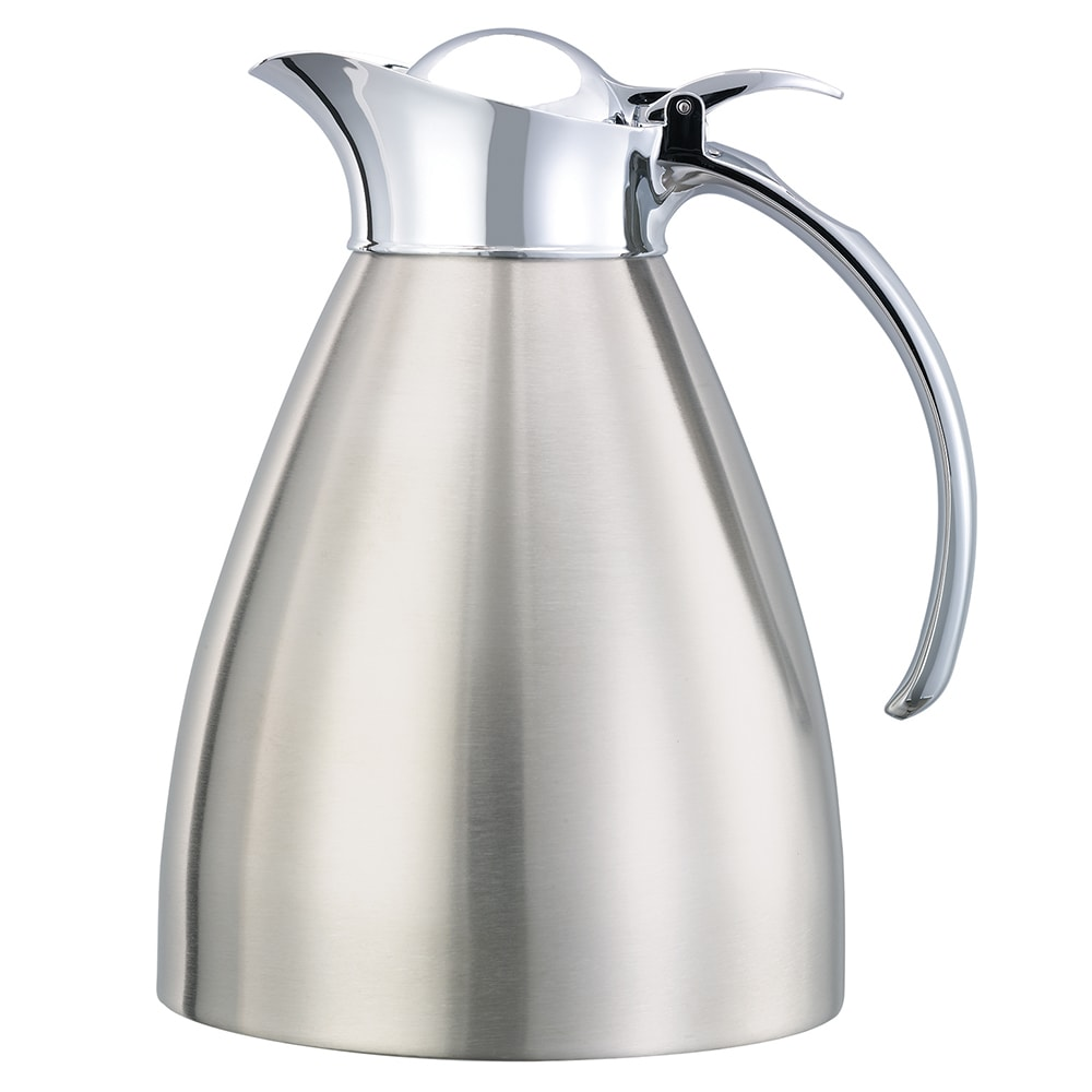 Service Ideas 98210BS 1-liter Carafe w/ Vacuum Insulation, Brushed Stainless Finish