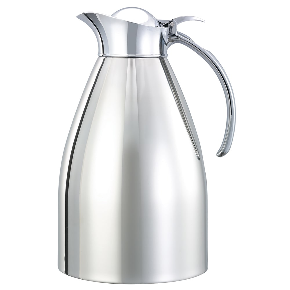 Service Ideas 98215 1.5 liter Carafe w/ Vacuum Insulation, Polished Stainless Finish