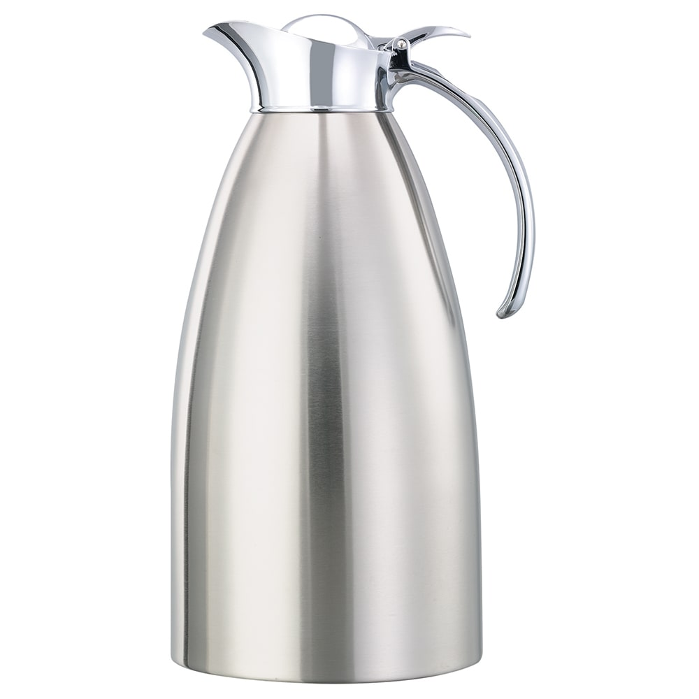 Service Ideas 98220BS 2 liter Coffee Server w/ Flip Top Stopper Lid, Brushed Stainless