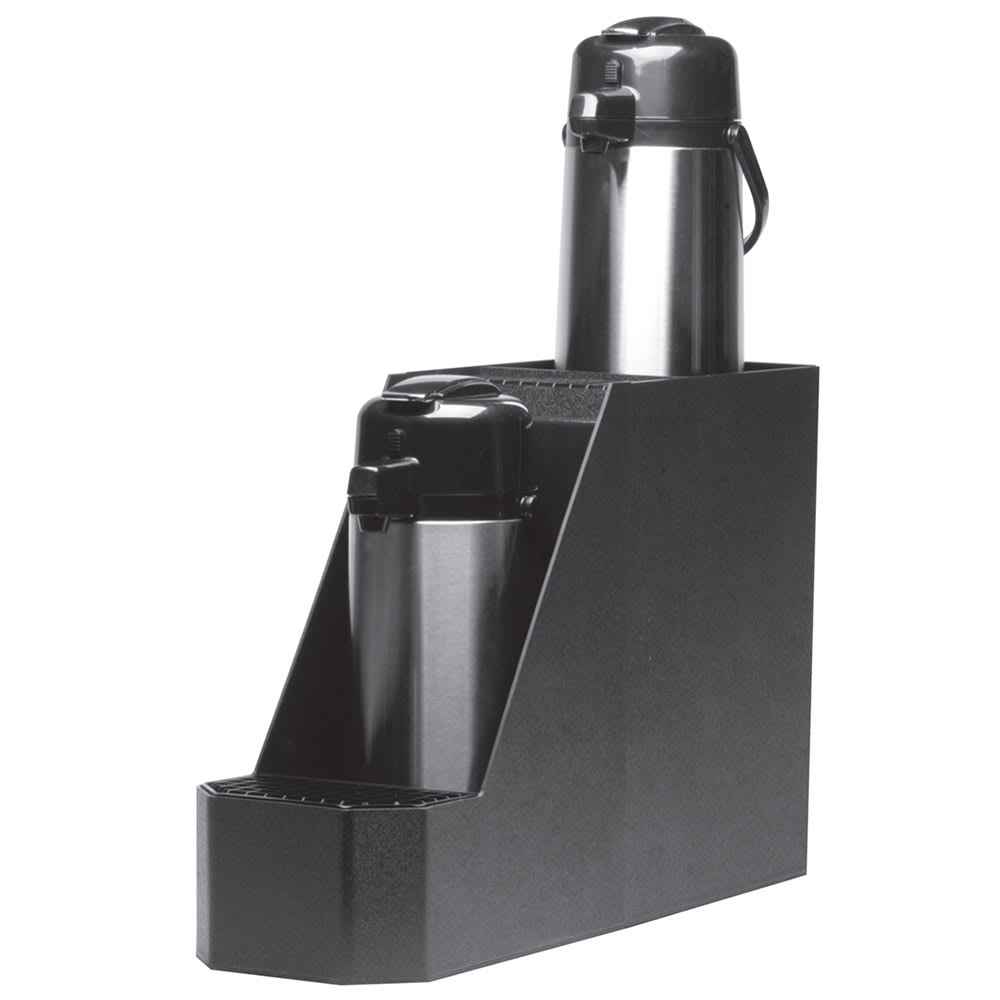 Service Ideas APS2BL Airpot Stand w/ Reinforced Corners, Holds 2 Airpots, Black Plastic