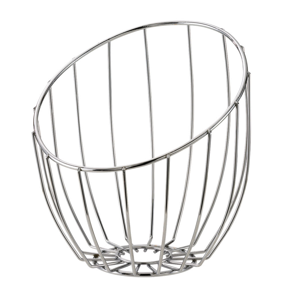 "Service Ideas BKTA Tall Bread Basket, 10 x 11 x 12"", Polished Stainless"