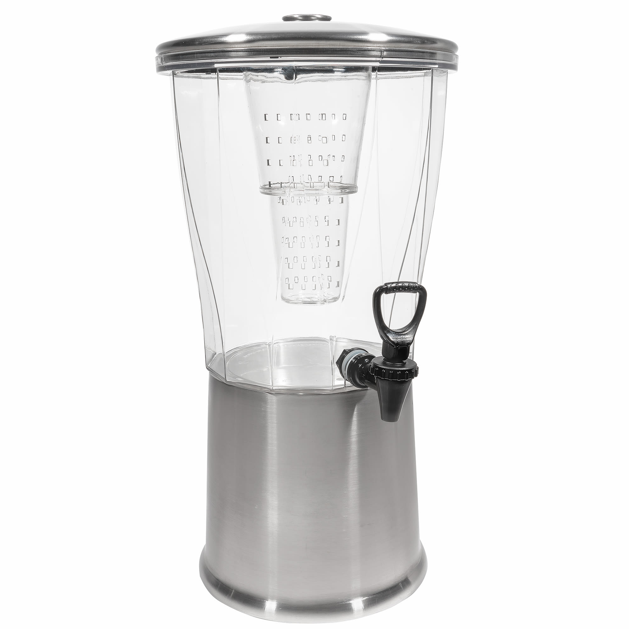 Service Ideas CBDRT3SS 3-gal Round Beverage Dispenser, BPA Free, Stainless