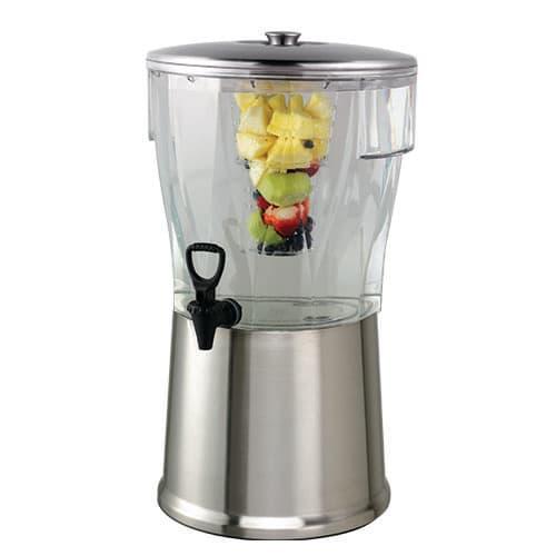 Service Ideas CBDRT5SS 5 gal Beverage Dispenser w/ Lid & Removable Infuser Tube, Spigot, BPA Free, Plastic