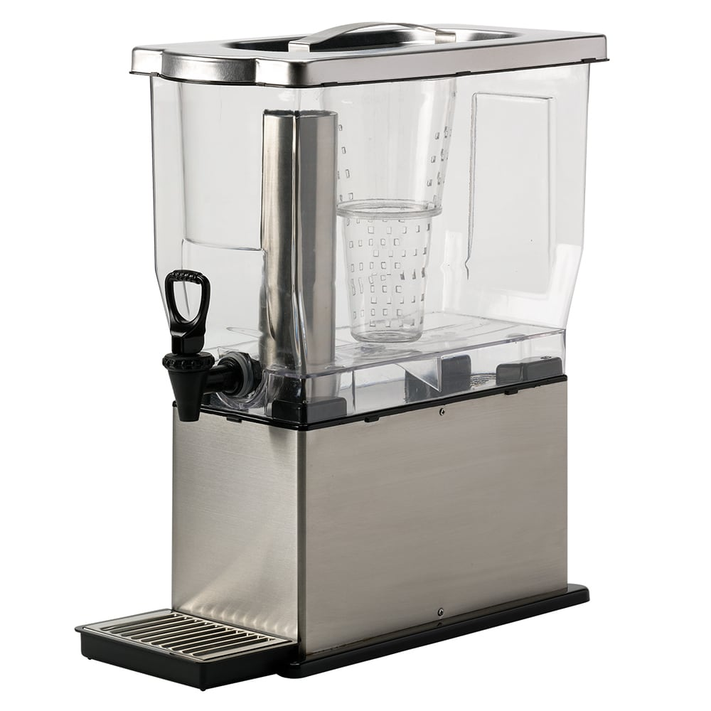 Service Ideas CBDT3SS 3 gal Rectangular Beverage Dispenser - Removable Infuser Basket, Stainless