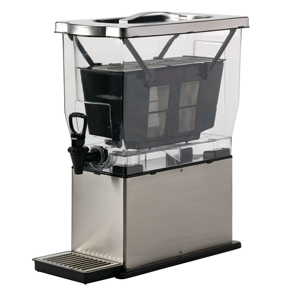 Service Ideas CBNS3SS 3 gal Cold Brew Coffee Brewer/Dispenser w/ 3 lb Brew Basket, Stainless Steel