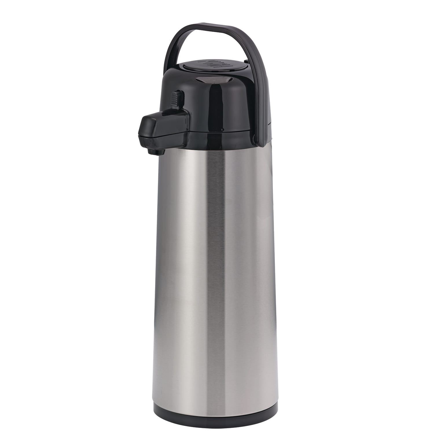 Service Ideas ECA25S 2.5-liter Insulated Airpot w/ Replaceable Liner, Stainless, Black