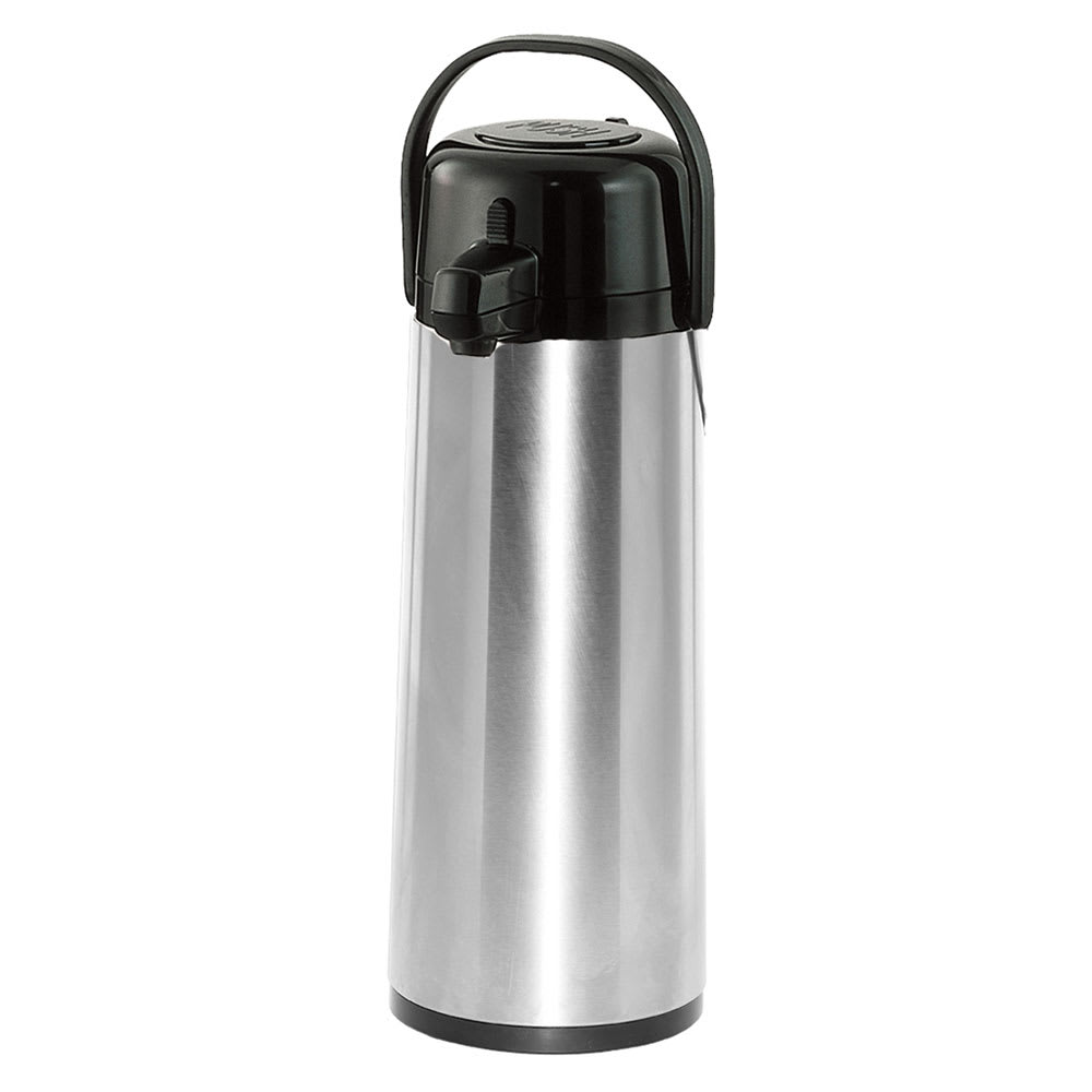 Service Ideas ECA30S 3 liter Pump-Style Airpot - Glass Liner, Stainless