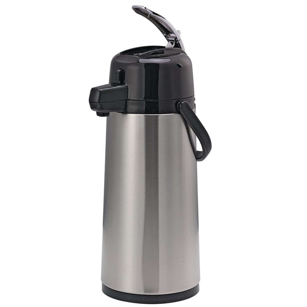 Service Ideas ECAL19S 1.9-liter Insulated Airpot, Lever Style, Stainless w/ Black