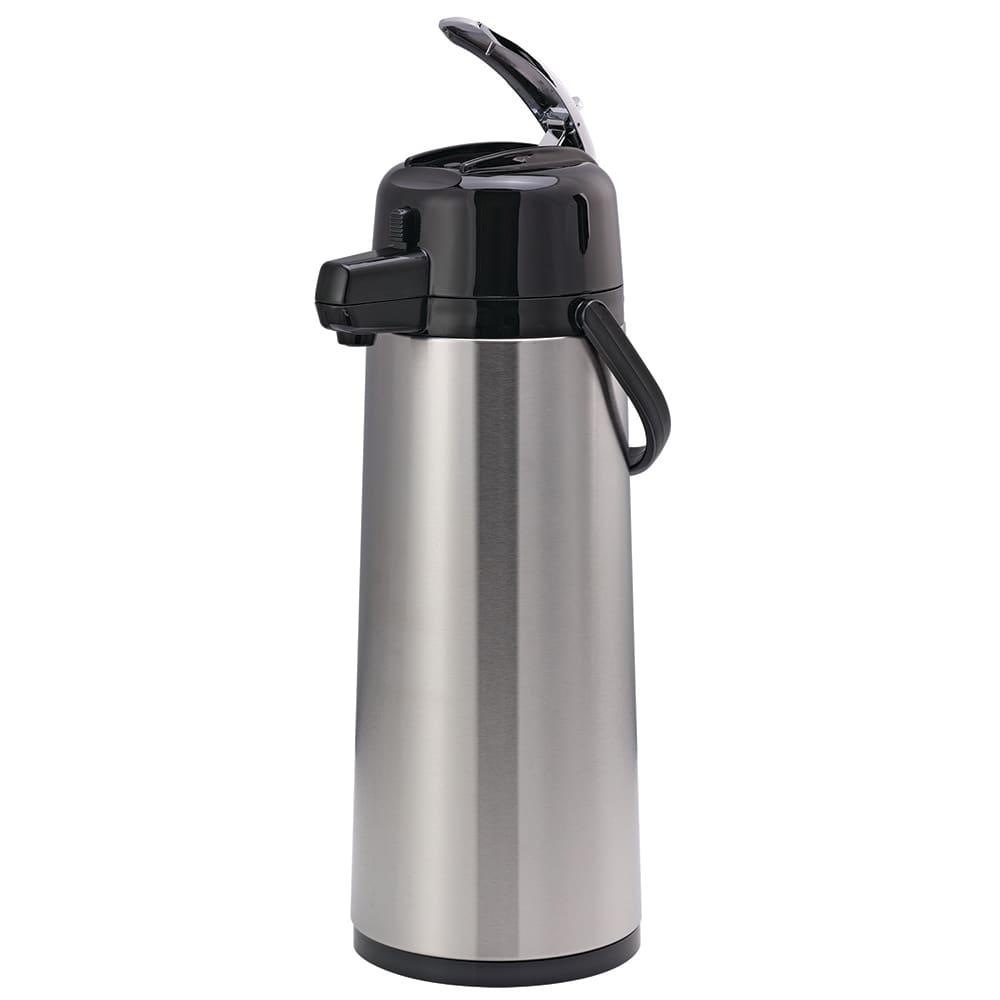Service Ideas ECAL25S 2.5-liter Insulated Airpot w/ Pump Lever Style, Stainless, Black