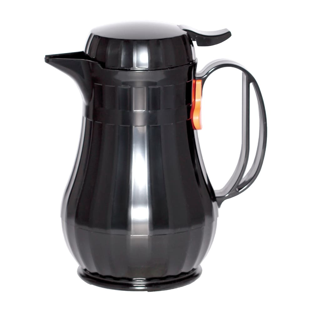 Service Ideas ECO6BL .6-liter Server w/ Push Button Lid, Styrenic Resin, Black