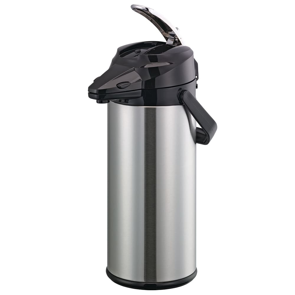Service Ideas ENALG25S 2.5-liter Lever-Action Airpot - Glass Liner, Stainless