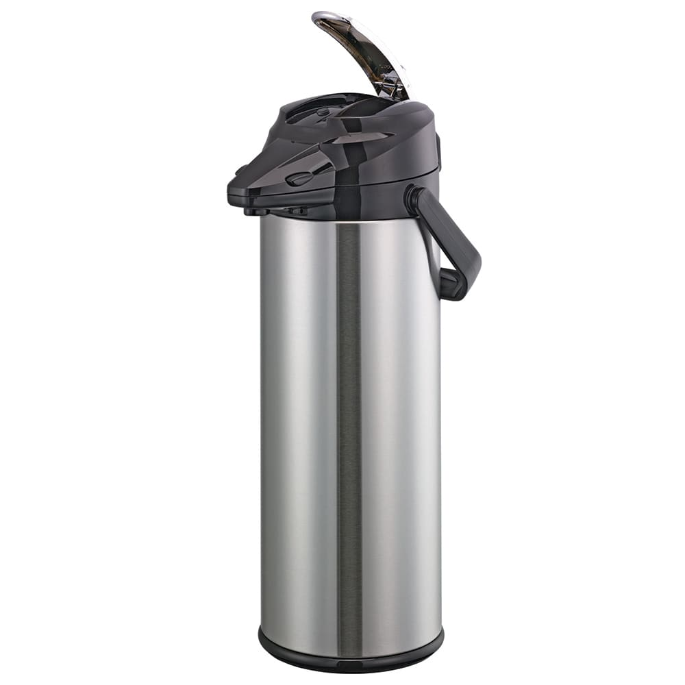 Service Ideas ENALG30S 3-liter Lever-Action Airpot - Glass Liner, Stainless
