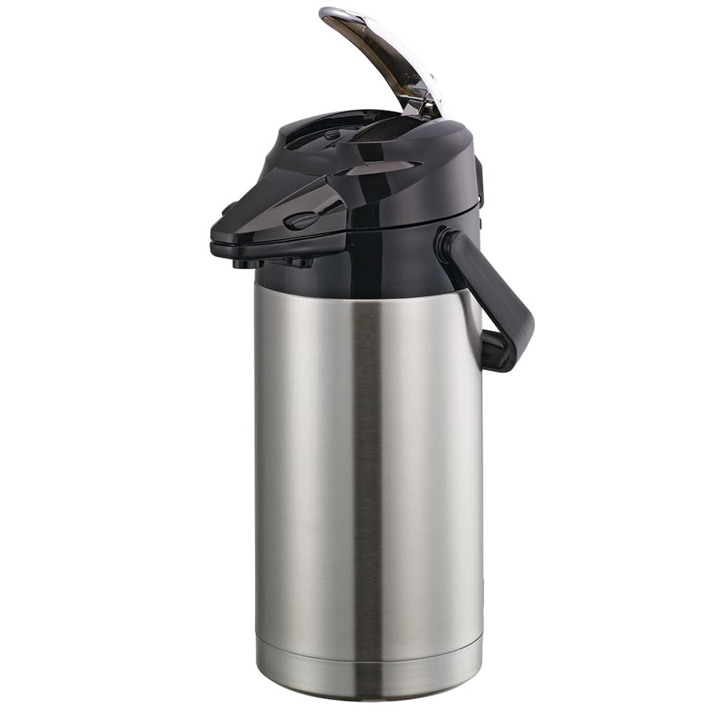 Service Ideas ENALS25S 2.5 liter Lever-Action Airpot - Stainless Liner, Stainless