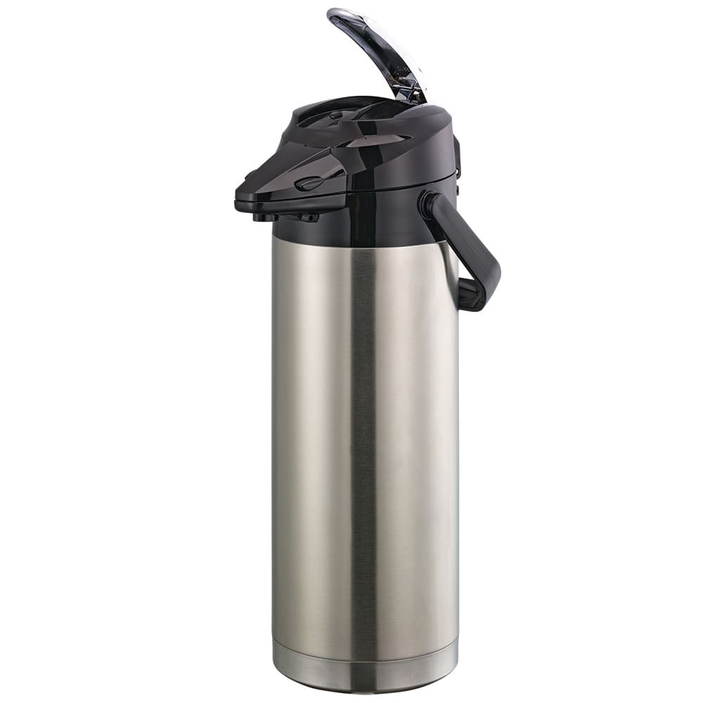 Service Ideas ENALS37S 3.7-liter Lever-Action Airpot - Stainless Liner, Stainless