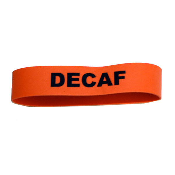 Service Ideas FBDECAF Non-Toxic Rubber Label-Decaf