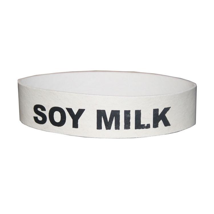 Service Ideas FBSOYMILK Flavorband Label, Soy Milk, Non-Toxic Rubber