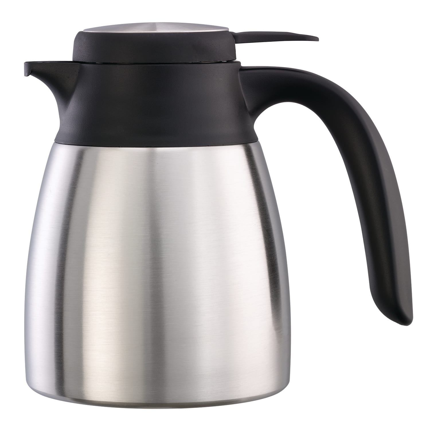 Service Ideas FCC06SS 20 oz Carafe w/ Push-Button Lid - Vacuum Insulated, Stainless