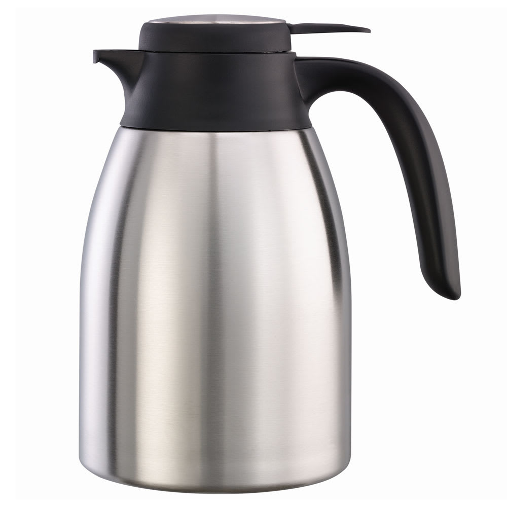 Service Ideas FCC12SS 40.6 oz Carafe w/ Push-Button Lid - Vacuum Insulated, Stainless