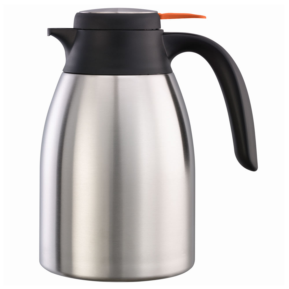 Service Ideas FCC12SSD 40.6 oz Carafe w/ Decaf Push-Button Lid - Vacuum Insulated, Stainless