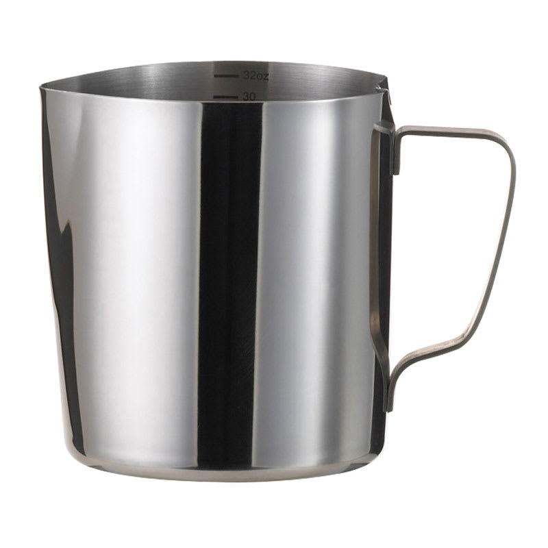 Service Ideas FROTH326 32 oz Frothing Pitcher w/ 6 oz Increments, Stainless