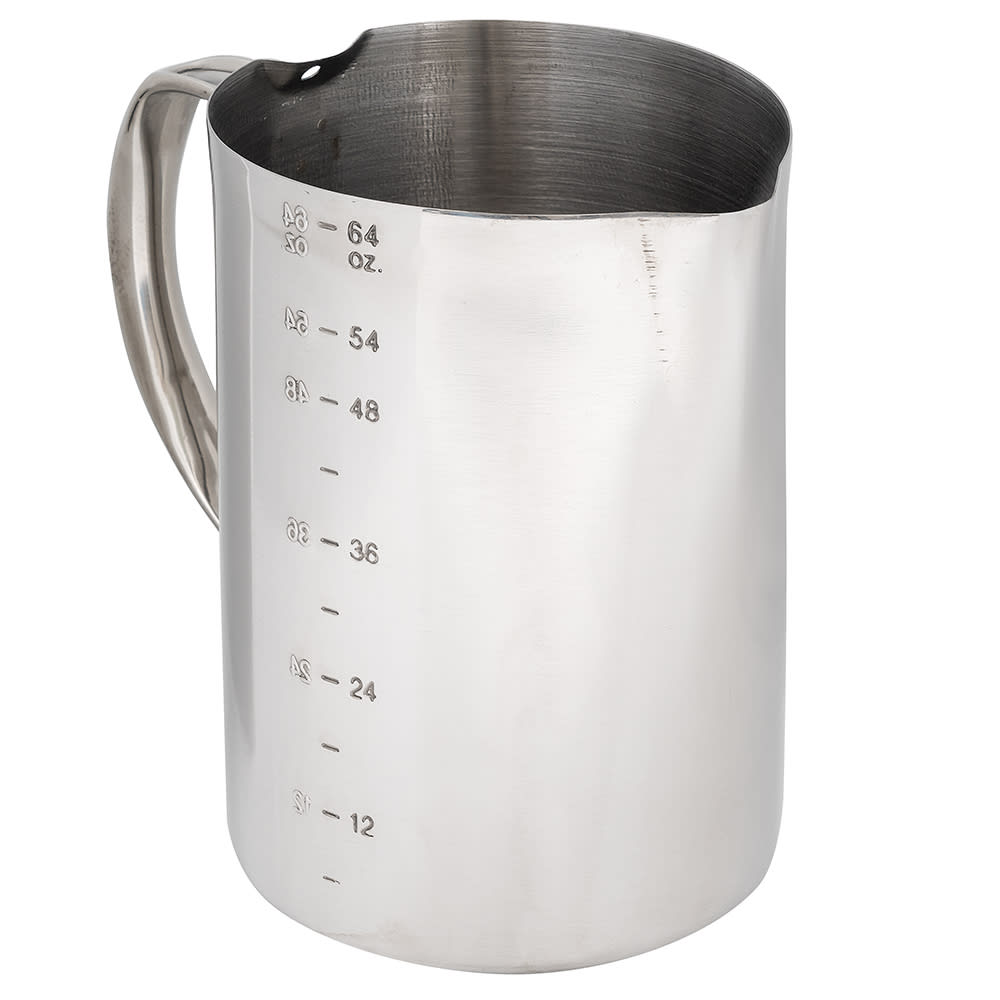 Service Ideas FROTH646 64-oz Frothing Pitcher w/ 6-oz Increments, Stainless