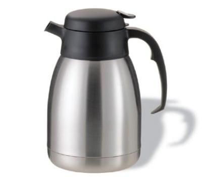Service Ideas FVP15WHOLE 1.5-liter Carafe w/ WHOLE MILK Imprint, Stainless, Black Finish