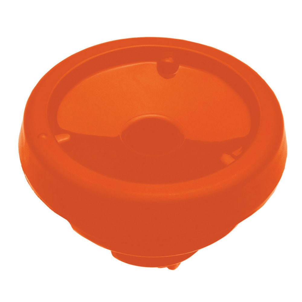Service Ideas FVPBTLOR Decaf Brew N  Pour Lid For SteelVac FVP Carafes, Orange