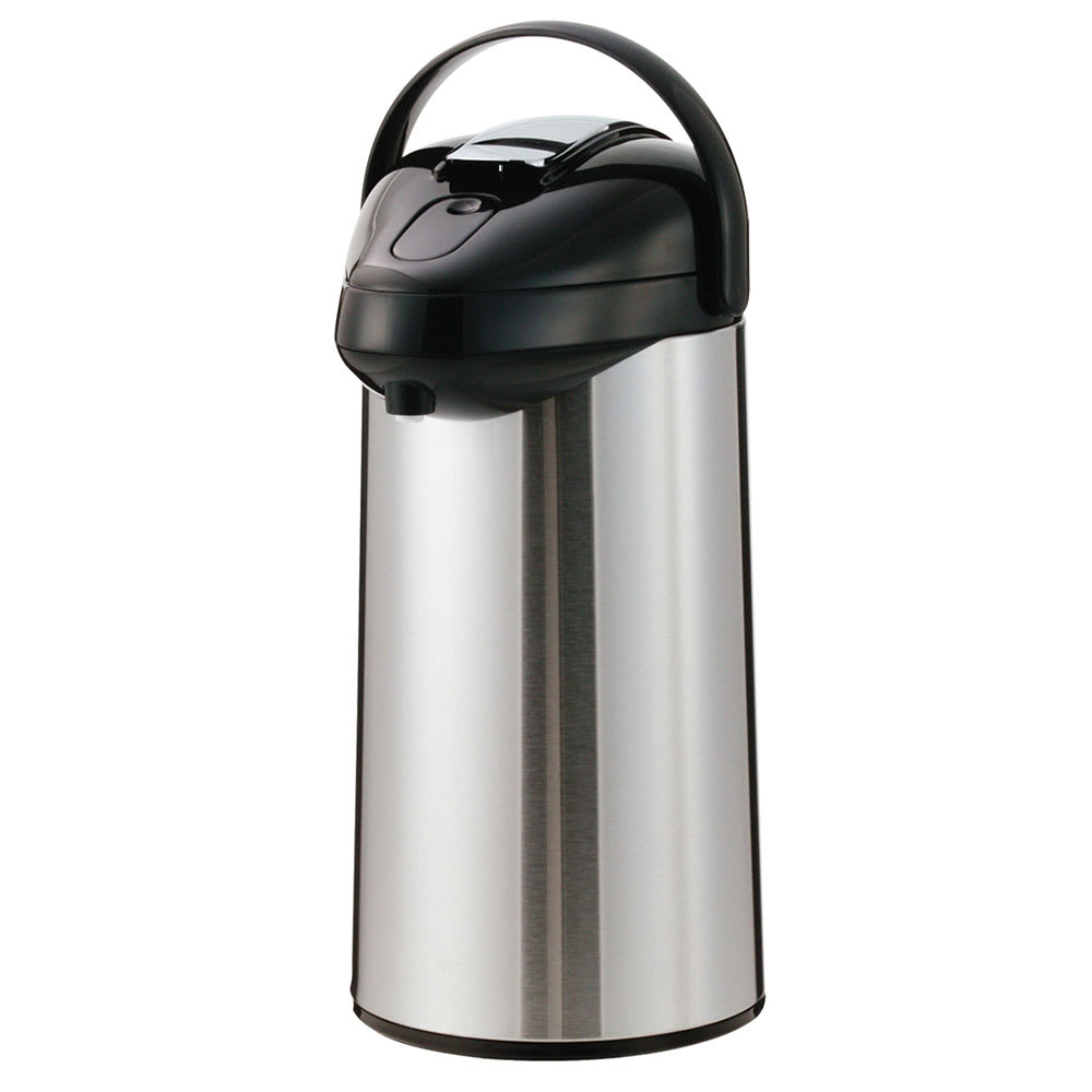 Service Ideas GLAL300 3-liter Airpot w/ Lever Lid, Glass-Lined