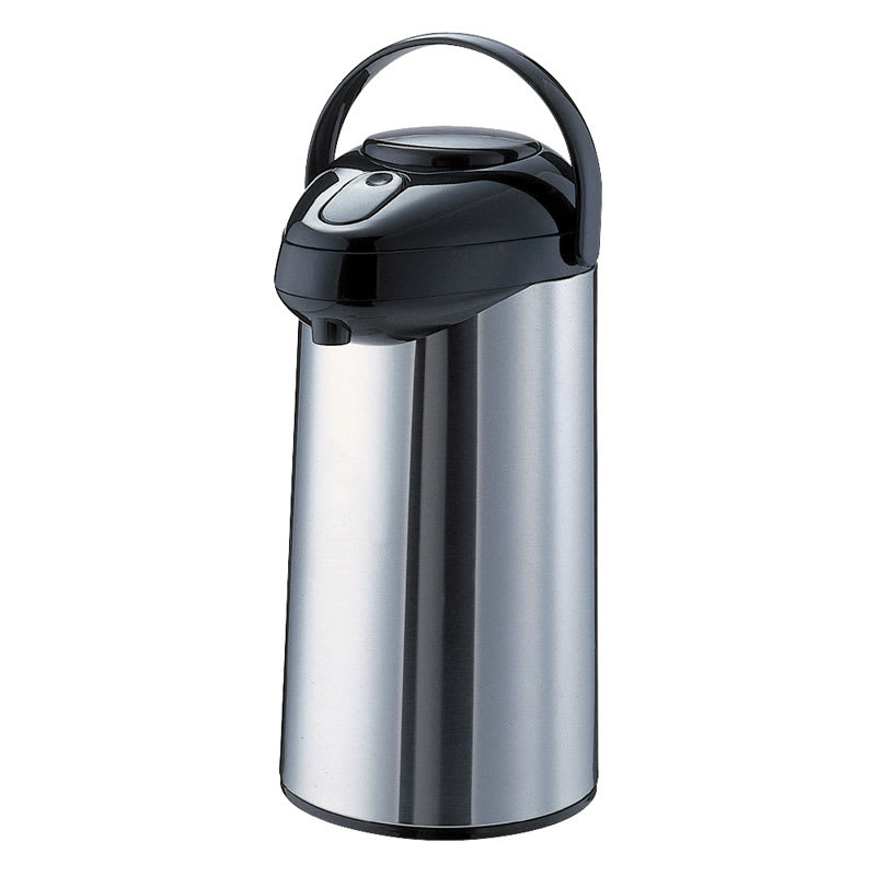 Service Ideas GLAP250 2.5 liter Premium Glass-Lined Airpot w/ Pump Lid, Stainless