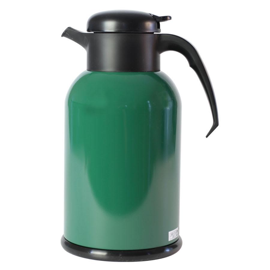 Service Ideas H100FG 1-liter Modern Coffee Server w/ Glass Liner, Green & Black