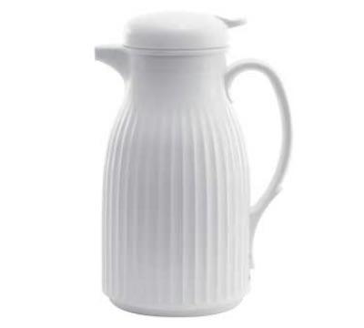 Service Ideas HC67W .6-liter Traditional Coffee Server w/ Glass Liner, White