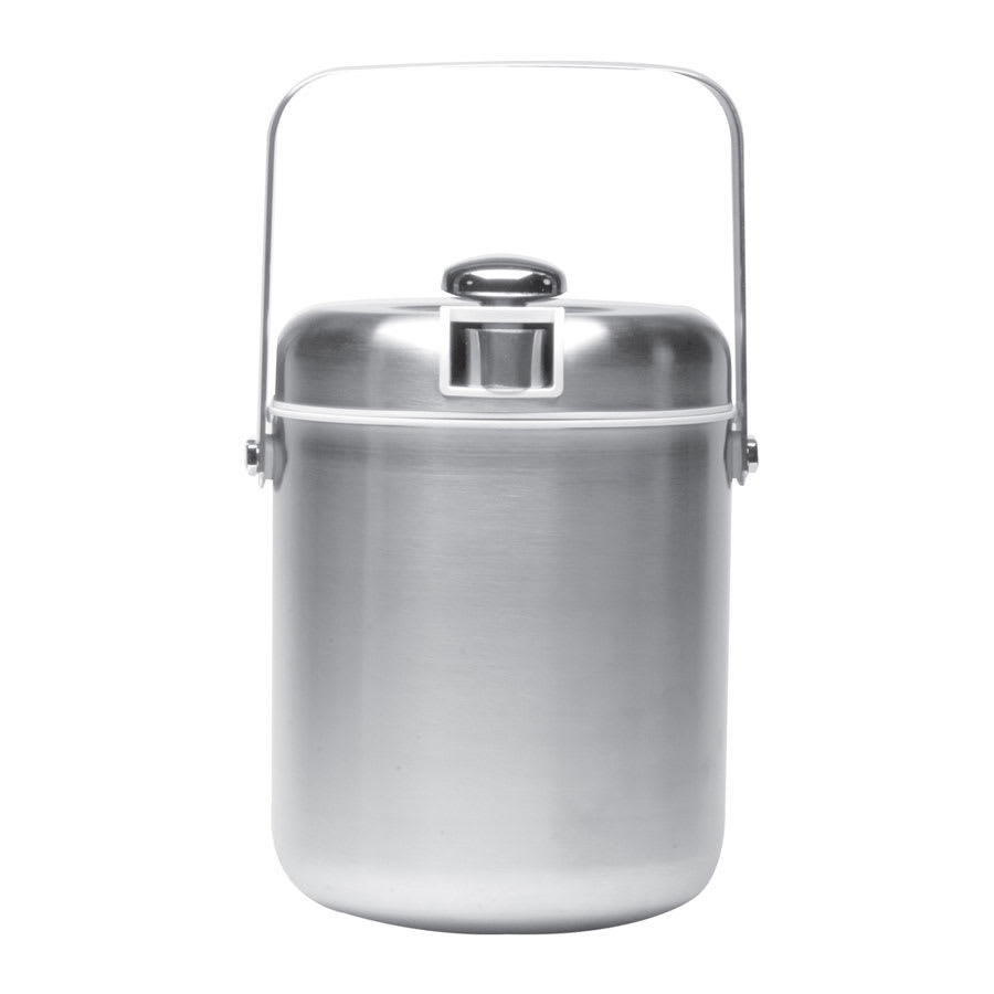 Service Ideas IBT15BS 1.5 liter Ice Bucket w/ Tongs, White Interior, Brushed Stainless