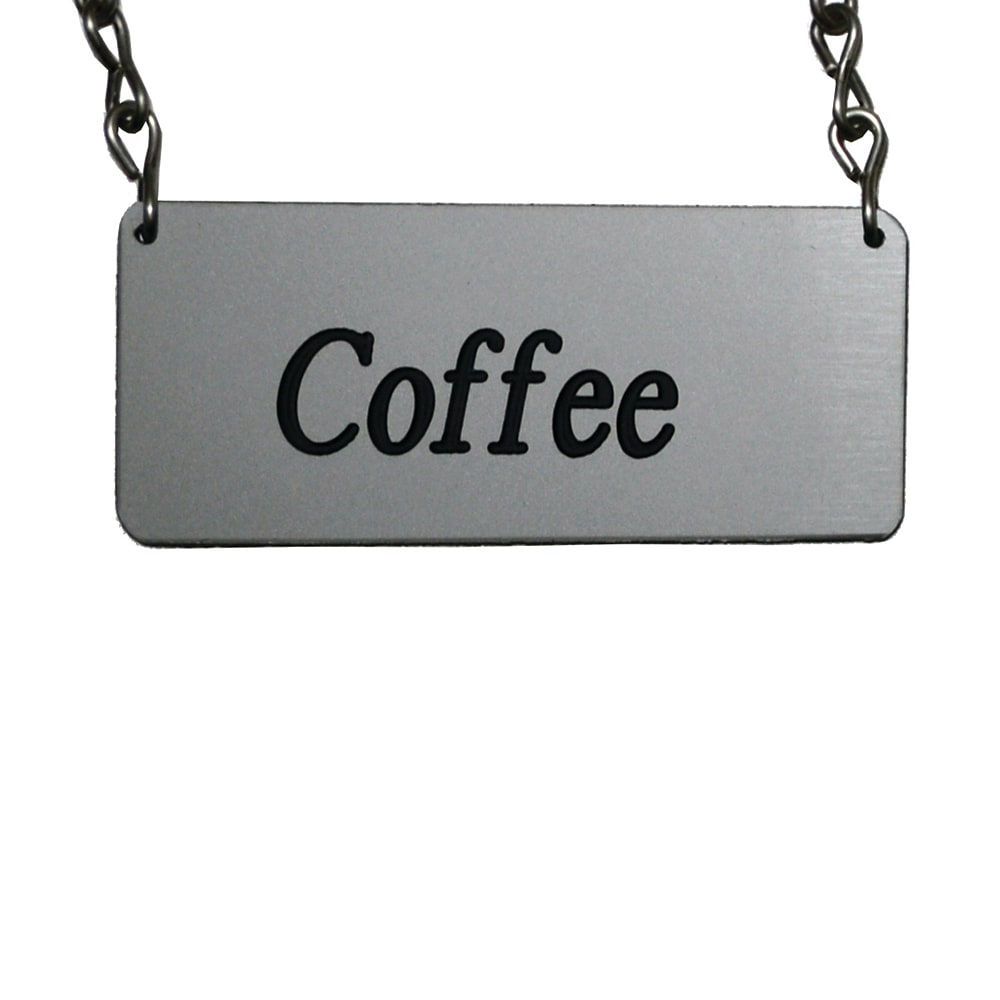 Service Ideas IDCHCF ID-Chain for Airpot Cover-Ups, COFFEE, 3.5 x 1.5""
