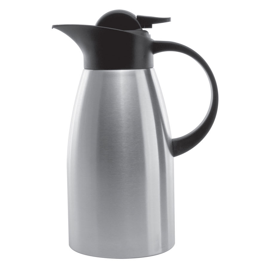 Service Ideas KVP1500 1.5-liter Stainless Touch Coffee Server, Brushed Stainless & Black